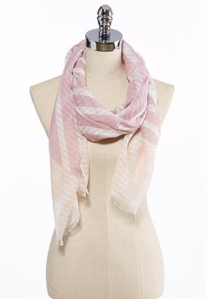Mixed Stripe Lightweight Oblong Scarf