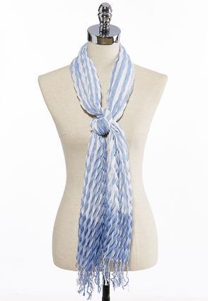 Textured Stripe Oblong Scarf