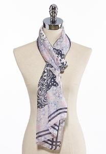 Floral Medallion Oblong Scarf