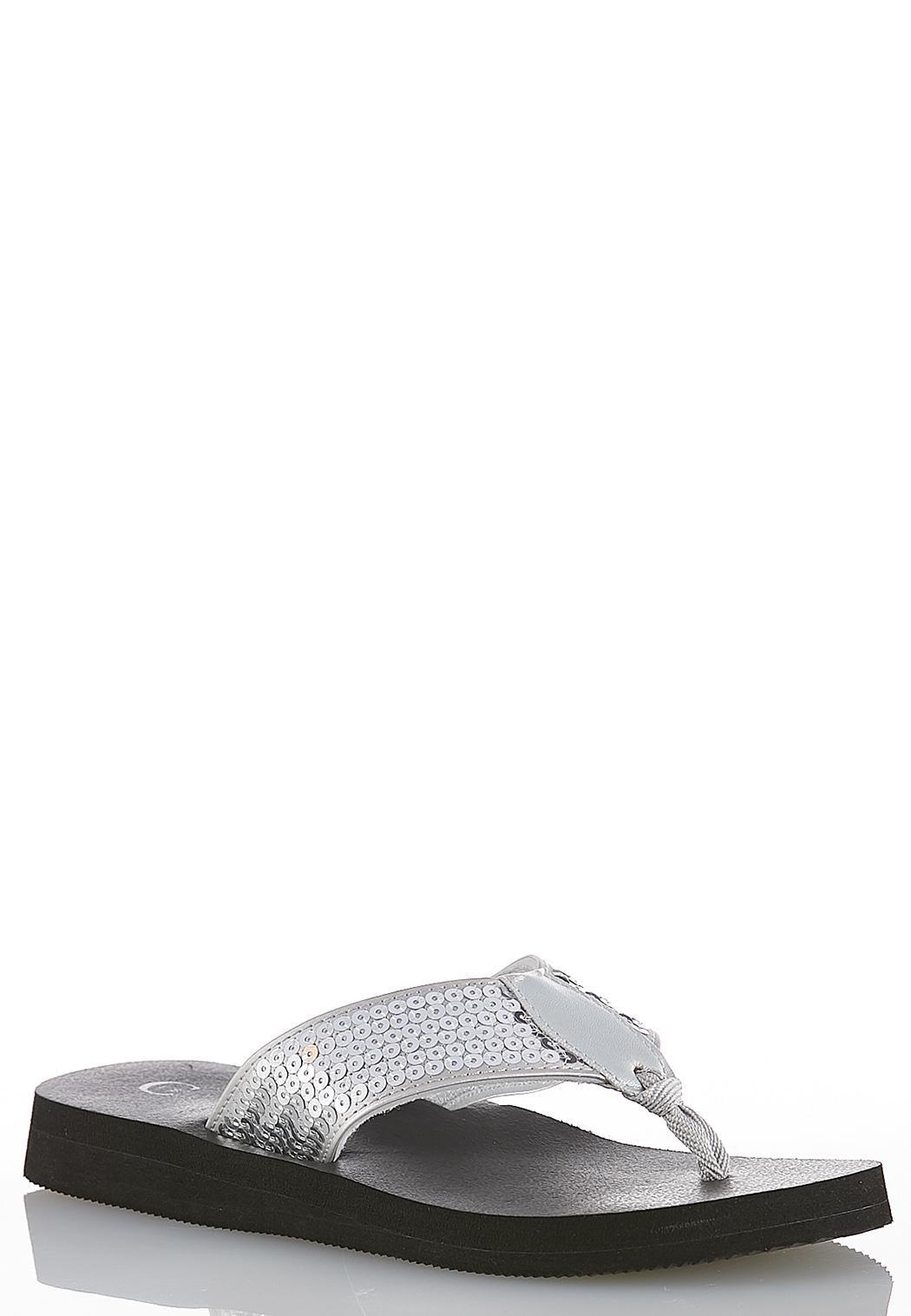 cdd1f958c92 Sequin Platform Flip Flops Sandals Cato Fashions