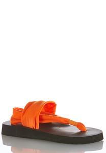Stretch Band Platform Flip Flops