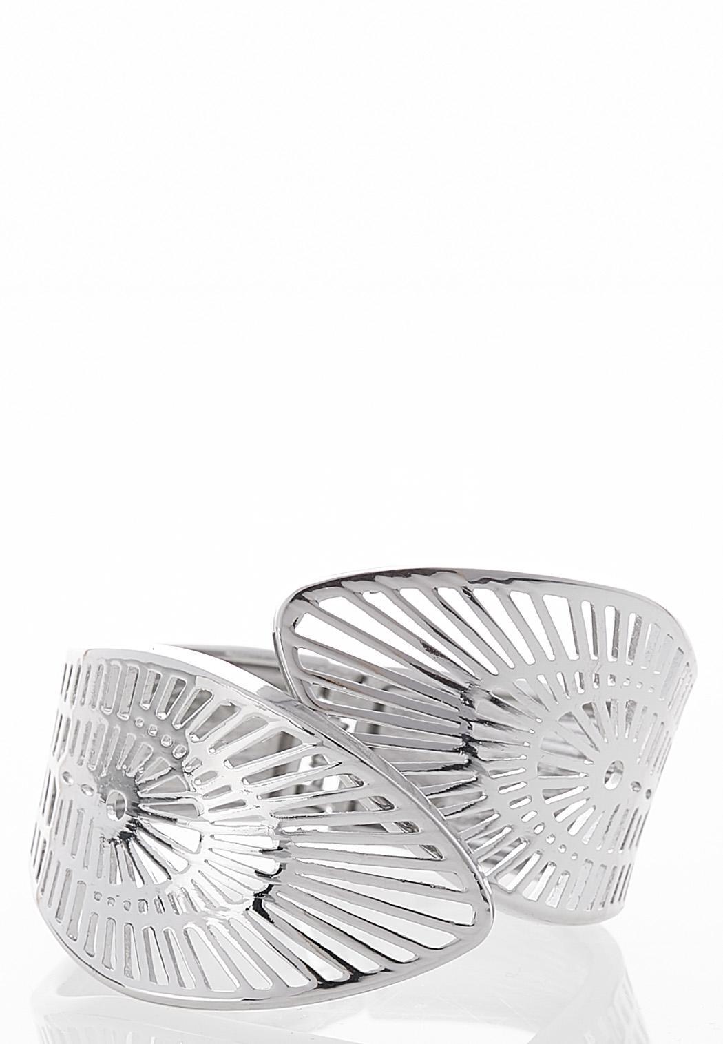 Cutout Metal Cuff Bracelet
