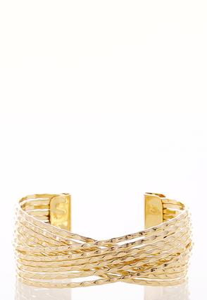 Metal Criss Cross Cuff Bracelet