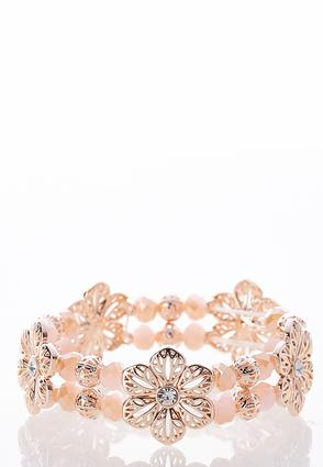 Flower Rondelle Stretch Bracelet