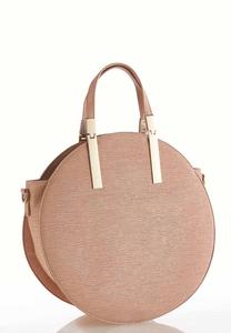 Oversized Textured Circle Handbag