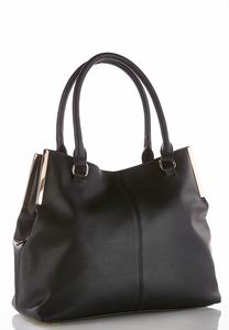 Metal Bar Solid Hobo Handbag