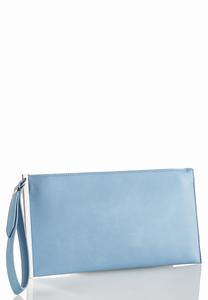 Hardware Trim Wristlet Clutch