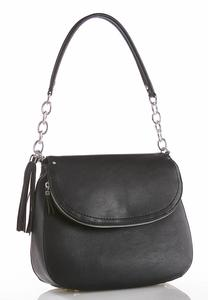 Foldover Flap Shoulder Handbag