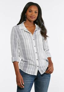Plus Size Mixed Stripe Top
