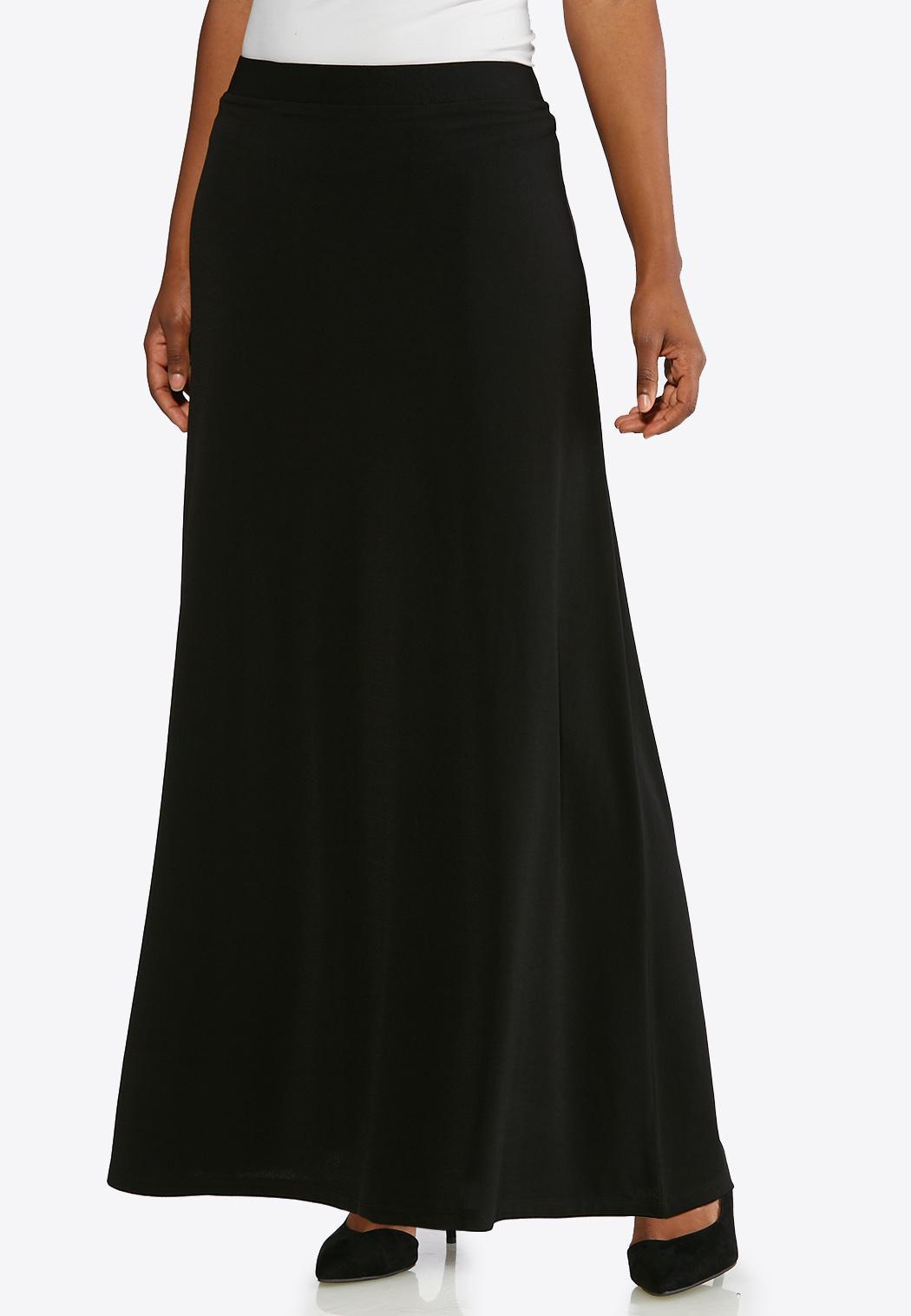 a92b851842c Solid Black Maxi Skirt alternate view Solid Black Maxi Skirt