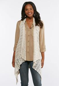 Plus Size Draped Waterfall Sweater Vest