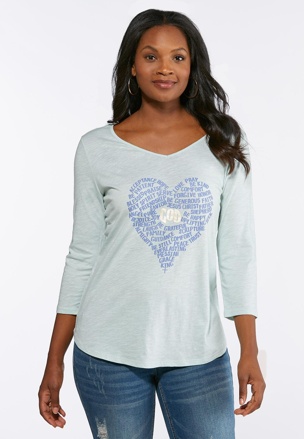 46e57eee500d6 Plus Size Inspirational Heart Top alternate view · Plus Size Inspirational  Heart Top