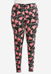 Plus Size Heart Full Of Love Leggings