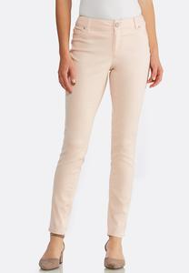 Solid Color Denim Jeggings