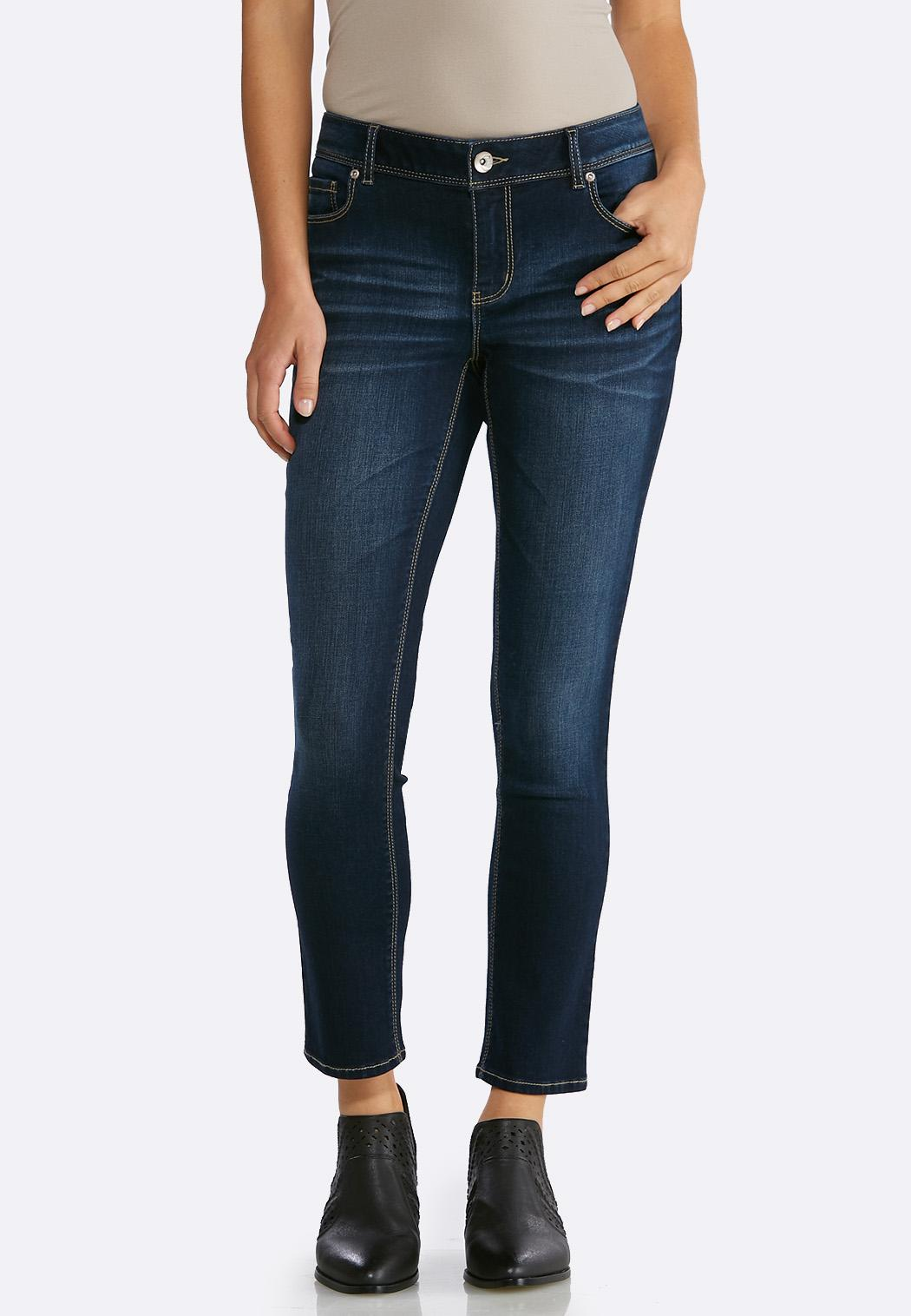 Dark Skinny Ankle Jeans