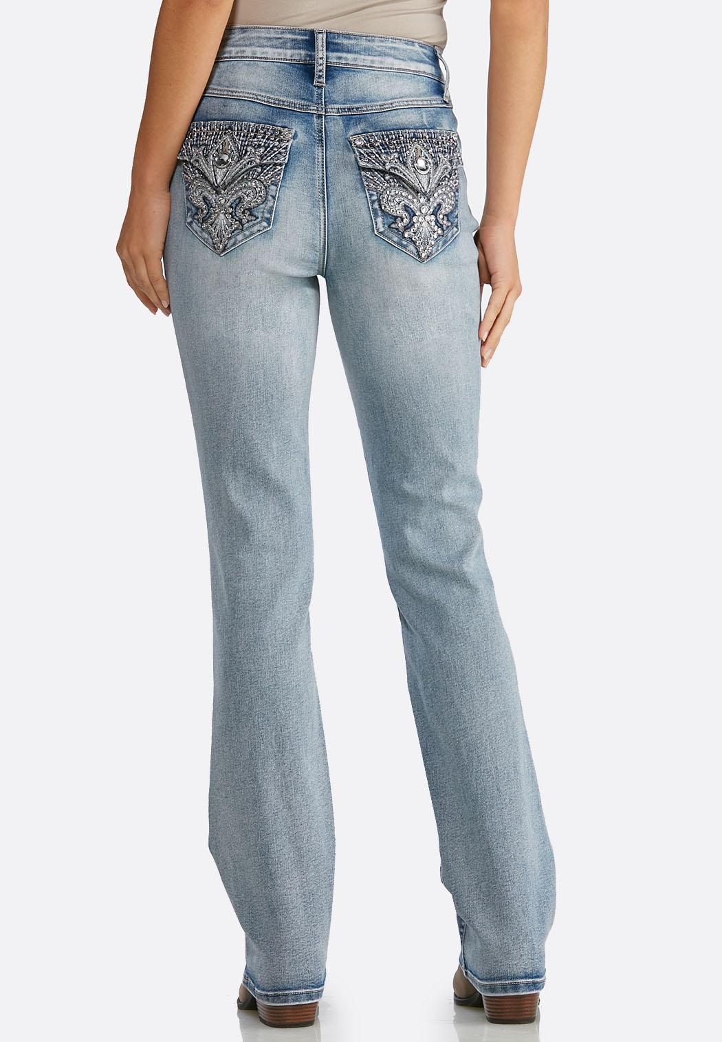 Fleur De Lis Pocket Jeans