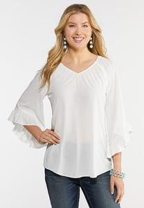 Breezy Ruffled Sleeve Top