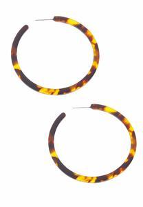 Large Marbleized Hoop Earrings