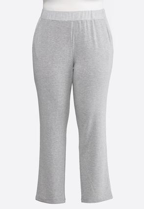 Plus Size Gray French Terry Pants