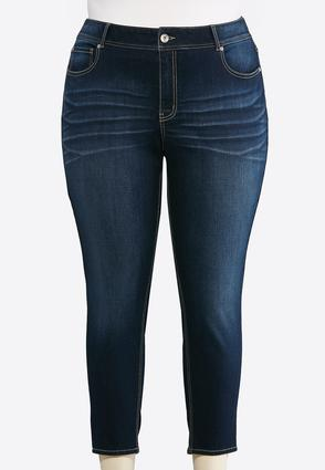 Plus Size Dark Skinny Ankle Jeans