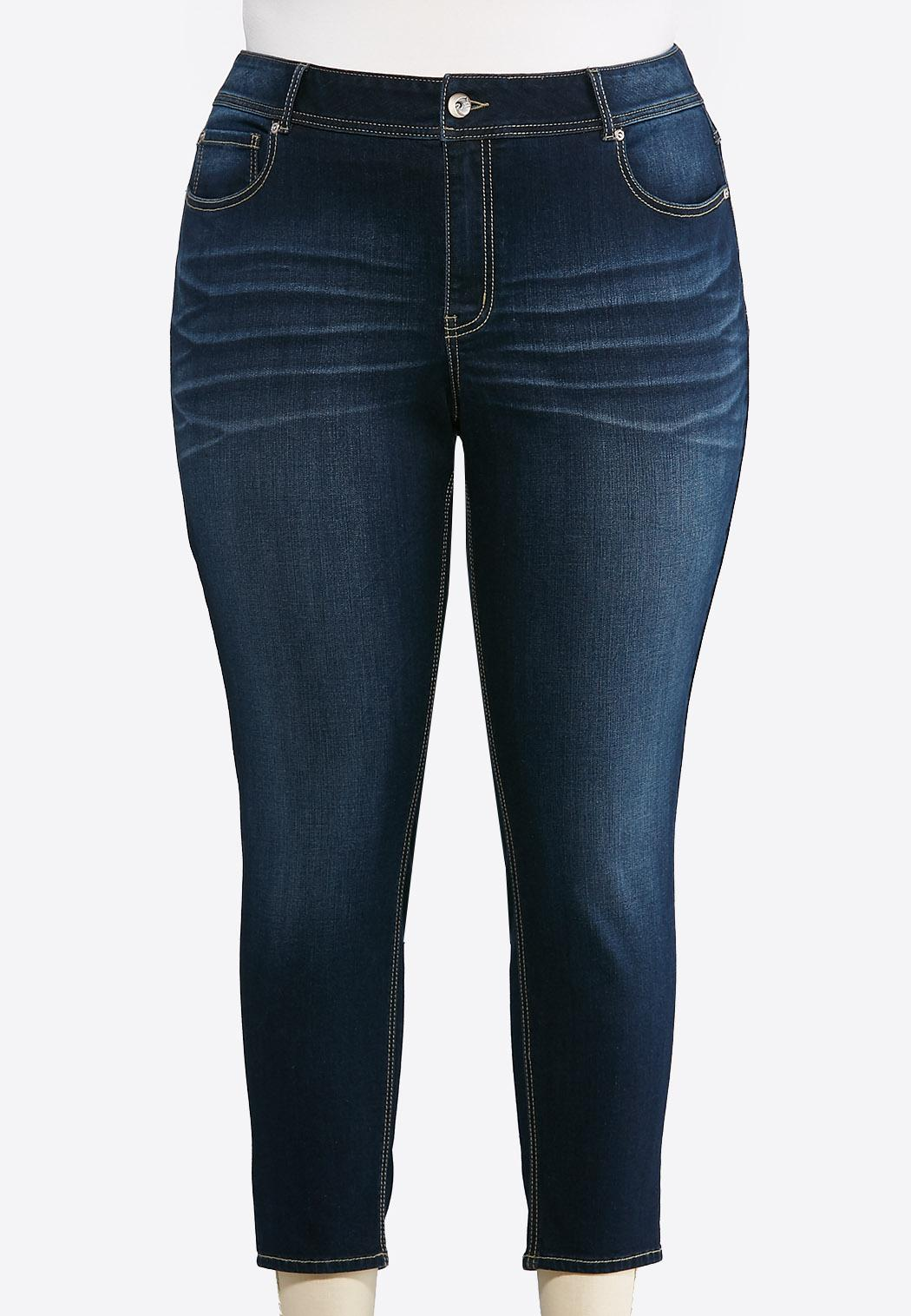 Plus Extended Dark Skinny Ankle Jeans