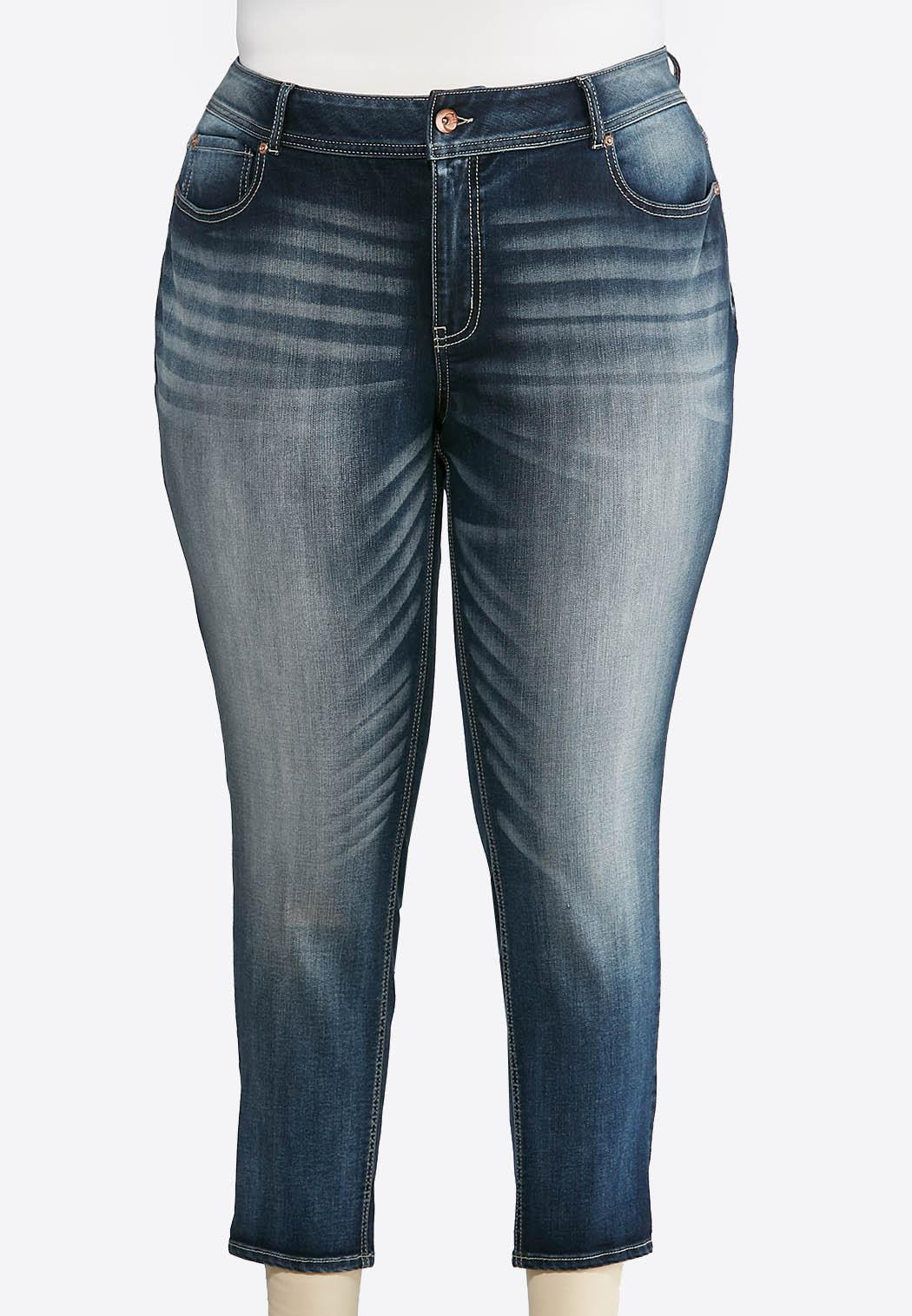 fc98ec00293 Plus Size Faded Skinny Ankle Jeans Ankle Pants Cato Fashions