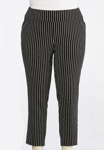 Plus Size Contrast Stripe Pull-On Pants