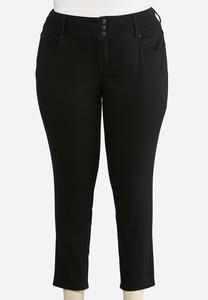 Plus Size Black Shape Enhancing Ankle Jeans