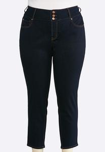 Plus Size Shape Enhancing Ankle Jeans