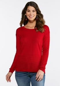 Plus Size Pointelle Pullover Sweater
