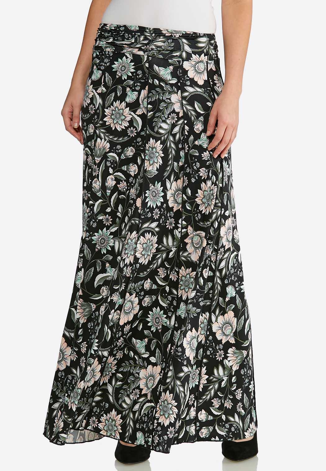 df92519fb3 Seamed Floral Maxi Skirt alternate view Seamed Floral Maxi Skirt