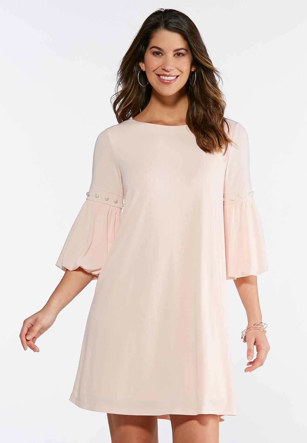 Pearl Bubble Sleeve Dress