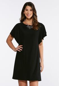 Double Flutter Sleeve Dress