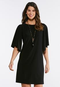 Plus Size Flare Sleeve Dress
