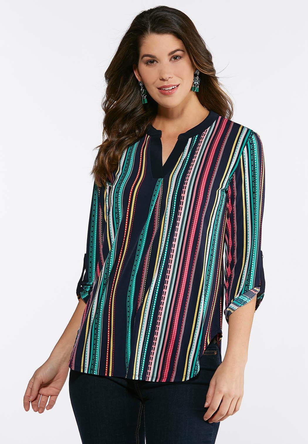Bright Stripe Pullover Top