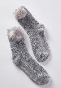 Pom Pom Slipper Socks