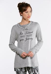 Plus Size Trust Your Journey Top