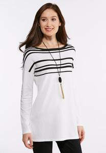 Plus Size Stripe Pullover Sweater