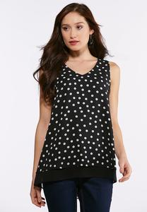 Double Layer Polka Dot Tank
