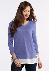 Layered Side Tie Top