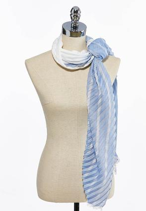 Ombre Accordion Oblong Scarf