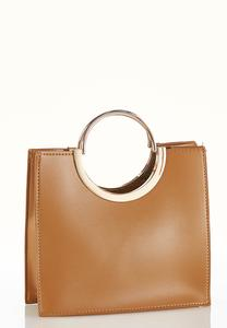 Ring Handle Square Crossbody