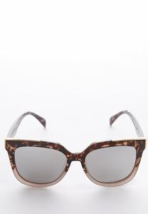 Gray Tortoise Mirrored Sunglasses