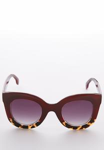 Gold Trim Oval Sunglasses