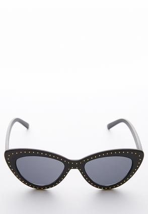 Stud Trim Cateye Sunglasses