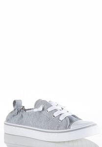 Toe Cap Lace Up Sneakers