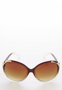 Gold Trim Tortoise Sunglasses