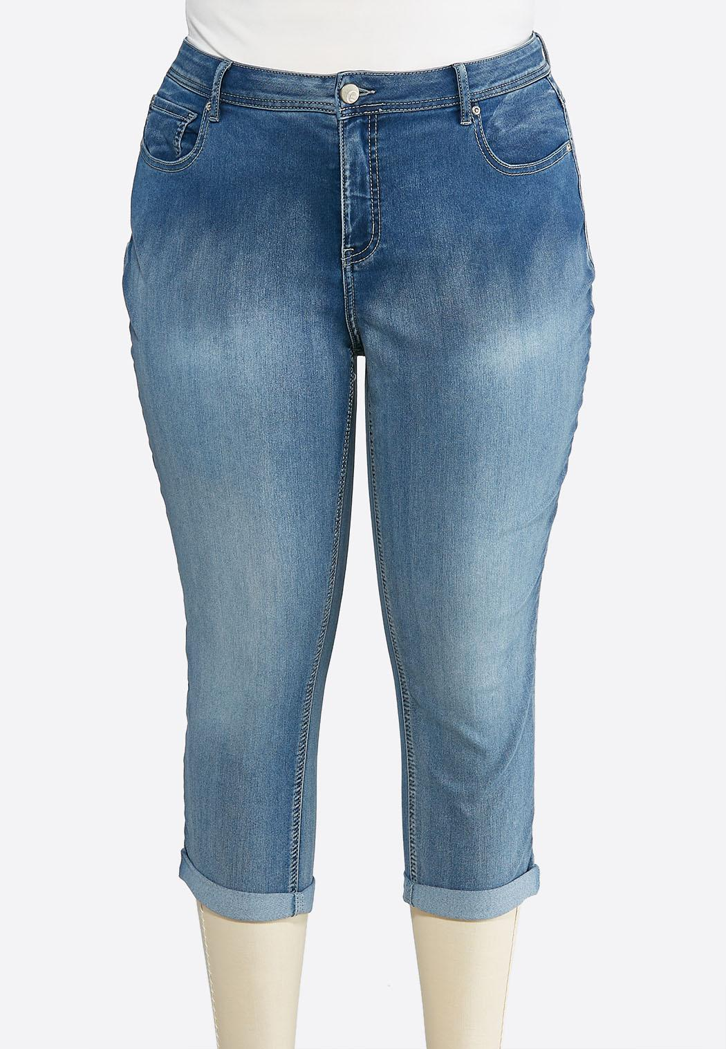 Plus Size Shape Enhancing Skinny Cropped Jeans