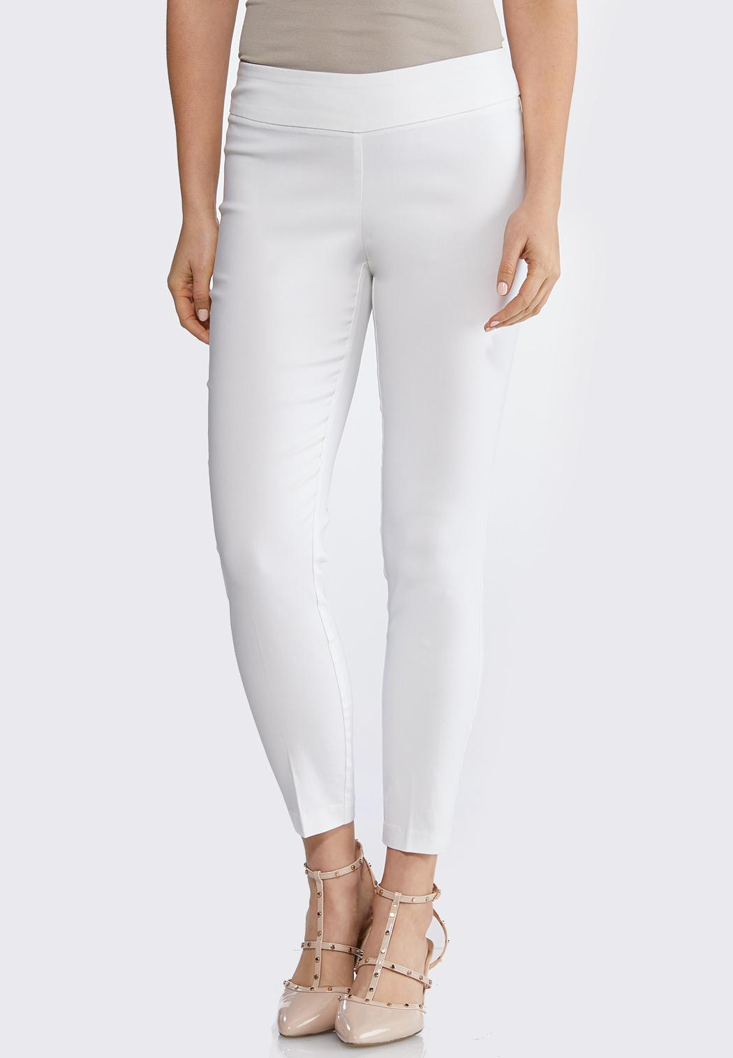 Solid Bengaline Ankle Pants