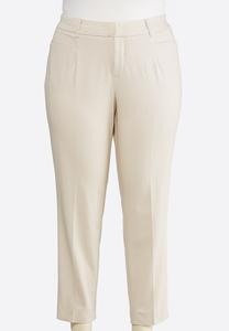Plus Size Shape Enhancing Ankle Pants